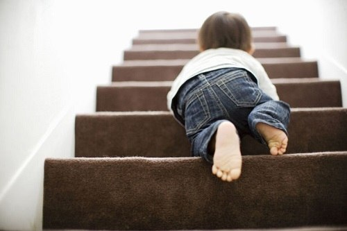 Baby On Stairway