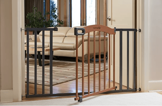 Decorative Wood & Metal Pressure Mounted Gate