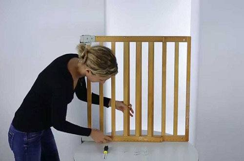 Woman Mounting Pressure Fit Baby Gate